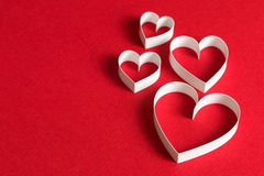 3D symbool van de hartvorm Royalty-vrije Stock Afbeelding