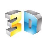 3d Symbool van de Vertoningstechnologie Royalty-vrije Stock Afbeeldingen