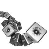 3d systemu dźwiękowego przyjęcia dj dj abstrakcjonistyczny set Zdjęcia Royalty Free