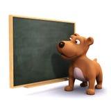 3d szczeniaka pies przy blackboard Zdjęcie Royalty Free