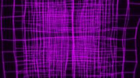3D sześcianu animacji VJ pętli ruchu wstępu Purpurowy Abstrakcjonistyczny tło ilustracji