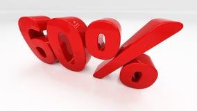 3D sześćdziesiąt procentów Obraz Stock