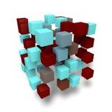 3D sześciany abstrakcjonistyczni Obraz Royalty Free