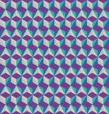 3D sześcianów bezszwowy wzór Obrazy Stock