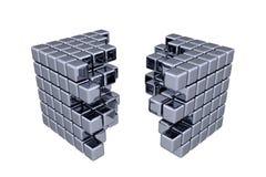 3D sześciany Obrazy Stock