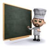 3d szef kuchni przy blackboard Obraz Stock
