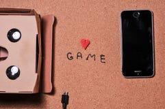 3D szkła dla gry na telefonie komórkowym fotografia stock