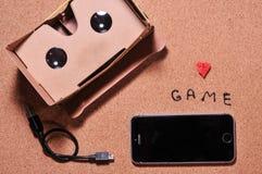 3D szkła dla gry na telefonie komórkowym zdjęcia stock