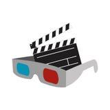 3d szkieł filmu kinowy projekt Obraz Stock
