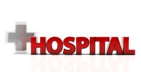 3d szpital ilustracji