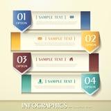3d sztandaru abstrakcjonistyczny infographics Obraz Stock