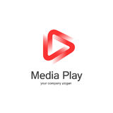 3D sztuki loga medialny projekt Zdjęcia Royalty Free
