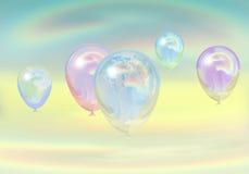 3d tła balonów tęcza odpłaca się biel Zdjęcie Royalty Free