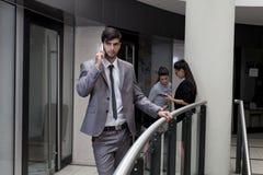 3d tła biznesowego wizerunku odosobneni mężczyzna biały Zdjęcia Stock