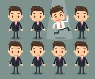 3d tła biznesowego wizerunku odosobneni mężczyzna biały Wybiera prawego mężczyzna Obrazy Stock