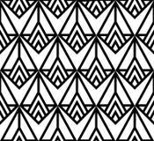 3d tła czerń pudełek geometrycznej deseniowej powtórki bezszwowy biel Obrazy Royalty Free