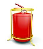 3d tła gasidła ogienia wizerunku odosobniony biel Obraz Royalty Free