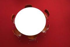 3d tła grey odpłaca się okrągłego stół fotografia stock