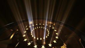 3D tła nagród Złoty Estradowy obracanie Z promienia światła pętlą zbiory wideo