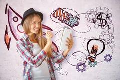 3d tła pojęcia ilustracja odizolowywał prezentacja odpłacającego się biel Fotografia Stock