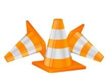 3d tła rożków wizerunek odizolowywający ruch drogowy biel Zdjęcia Royalty Free