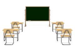 3d tła sala lekcyjnej wizerunku odosobniony biel Zdjęcia Royalty Free