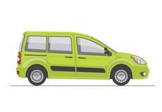 3d tła samochodu zieleń odpłaca się biel Fotografia Stock