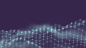 3d tła sieci Abstrakcjonistyczny pojęcie Przyszłościowa tło technologii ilustracja 3 d krajobrazu Duży Dane Wireframe Obraz Stock