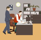 3d tła wizerunku życia biura biel ilustracja wektor