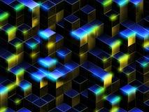3d tło abstrakcjonistyczni sześciany Zdjęcie Stock