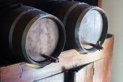 3d tło baryłki modelują biały wino Obraz Royalty Free
