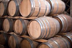 3d tło baryłki modelują biały wino Fotografia Stock