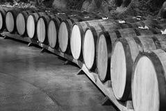 3d tło baryłki modelują biały wino Zdjęcia Royalty Free
