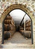 3d tło baryłki modelują biały wino Zdjęcie Stock