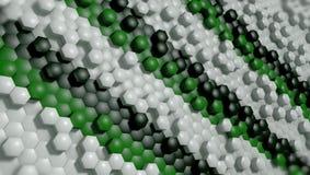 3d tło sześciokąt cząsteczki, 3d rendering ilustracja wektor