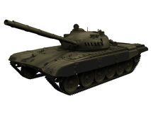 3d俄国/苏联T72坦克的翻译 库存图片