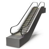 3d tła eskalatoru wizerunku odosobniony biel Zdjęcie Stock