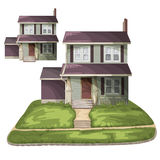 3d tła rodziny domu ilustraci odosobniony biel Obrazy Stock