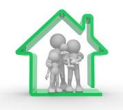 3d tła rodziny domu ilustraci odosobniony biel Fotografia Stock