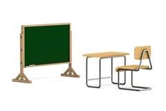 3d tła sala lekcyjnej wizerunku odosobniony biel Odosobniona 3d ilustracja Zdjęcia Stock