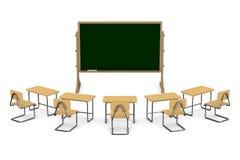 3d tła sala lekcyjnej wizerunku odosobniony biel Odosobniona 3d ilustracja Zdjęcia Royalty Free