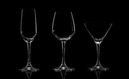 3d tła szklanej ilustraci odosobniony ustalony biel Zdjęcie Stock
