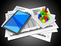 3d tablet computer Royalty Free Stock Photography