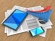 3d tablet computer Stock Photo