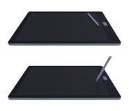3d tablet en pen Royalty-vrije Stock Afbeeldingen