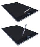 3d tablet en pen Stock Afbeeldingen