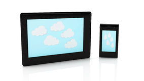 3d Tablet and mobile Stock Images