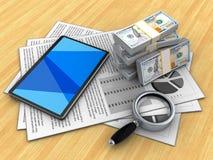 3d tabletcomputer stock illustratie