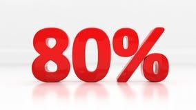 3D tachtig percenten Royalty-vrije Stock Afbeeldingen