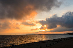 D-Tag bleibt Sonnenuntergang lizenzfreies stockfoto